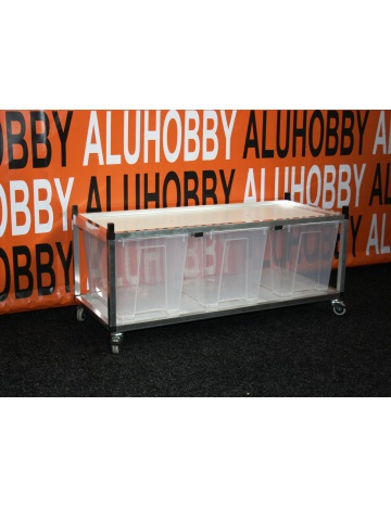 Rack Aluhobby K4 - strop síto (dno a patro, včetně beden)