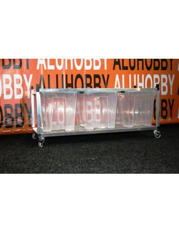 Rack Aluhobby K5 - dno a patro, včetně beden