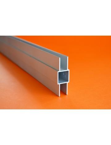 Hliníkový čtvercový jekl se 2 křidélky eloxovaný, 20x20x1,5mm