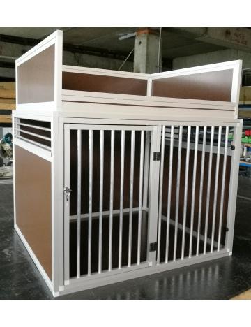 Velký přepravní box pro psy s odkládací ohrádkou