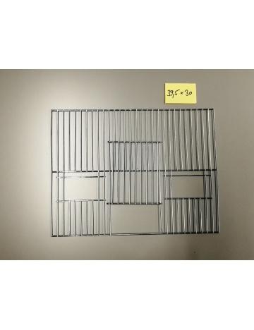 Mřížka stříbrná 395x300