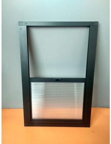Výletové okno 60x40cm - 10mm, černé