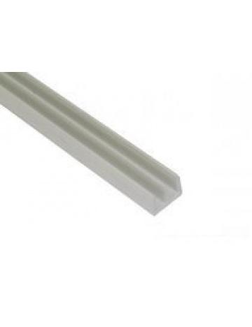 Terárijná plastová vodiaca lišta spodná, biela