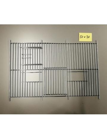 Mřížka stříbrná 500x300
