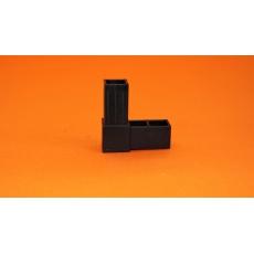 Plastové spojky pro profil 25x25, černé
